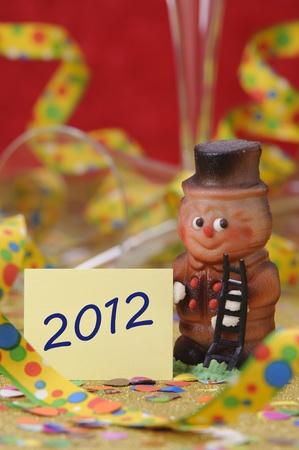 luckiness: happy new year 2012 Stock Photo