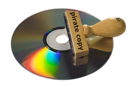 pirate copy of software or video cd photo