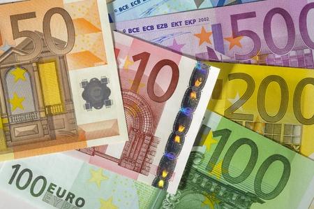 billets euro: billets en argent Banque d'images