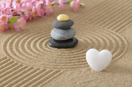 asian zen garden photo
