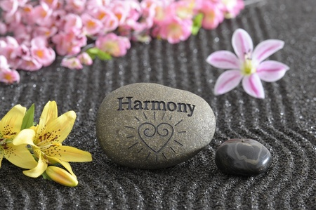 zen garden in harmony photo