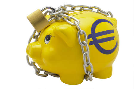 piggy bank with euro sign photo