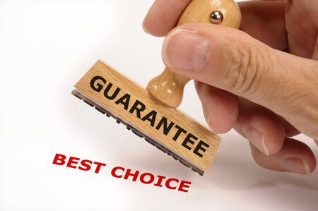 rubber stamp marked with guarantee and copy best choice photo