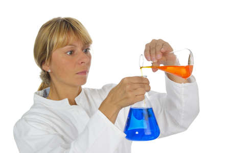 woman worker in chemistry lab photo