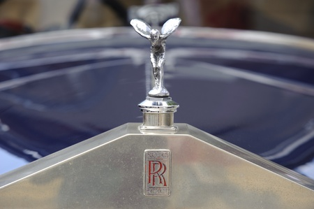 LANDSBERG, GERMANY - JULY 9: Oldtimer rallye for at least 80 years old antique cars with Rolls Royce Landaulet, built at year 1930, photo taken on July 9, 2011 in Landsberg, Germany