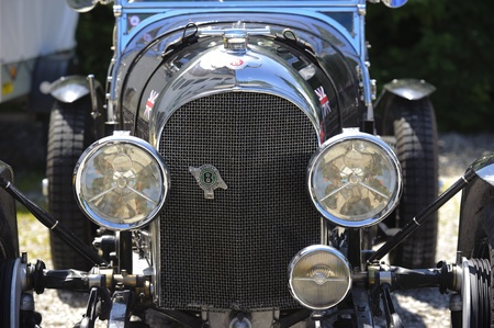 LANDSBERG, GERMANY - JULY 9: Oldtimer rallye for at least 80 years old antique cars with Bentley, built at year 1926, photo taken on July 9, 2011 in Landsberg, Germany