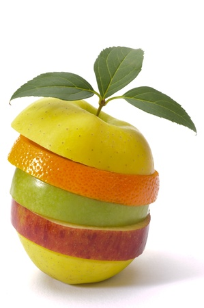 nutrici�n: Frutas mixtas Foto de archivo