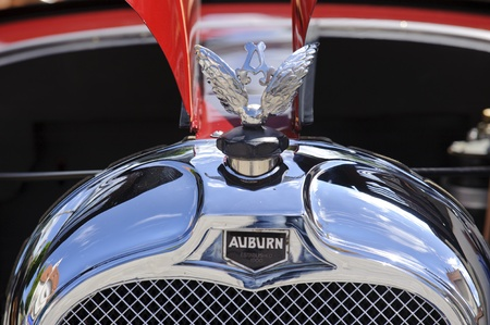 typ: LANDSBERG, GERMANY - JULY 9: Oldtimer rallye for at least 80 years old antique cars with Auburn, Typ 6-66 A, built at year 1927, photo taken on July 9, 2011 in Landsberg, Germany
