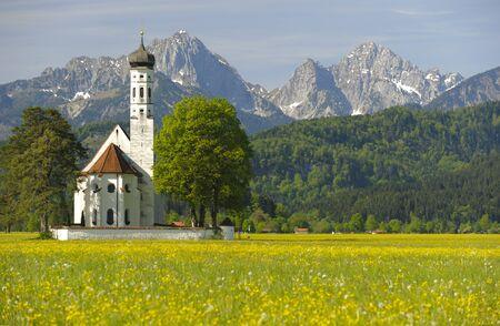 st coloman church in upper bavaria, germany photo