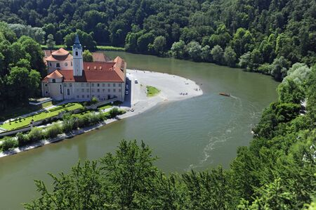 monastery nature: german abbey weltenburg in germany Stock Photo
