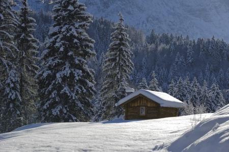 rifugio in inverno Archivio Fotografico