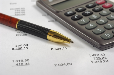 budget calculation Stock Photo - 11489795