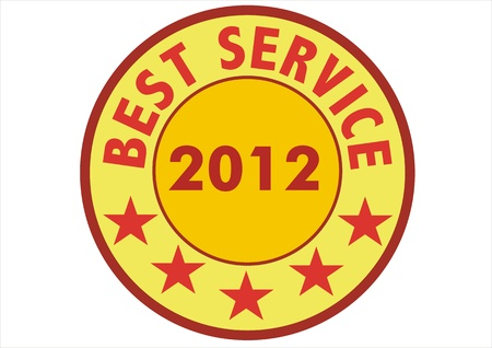 stamp marked with BEST SERVICE 2012 photo