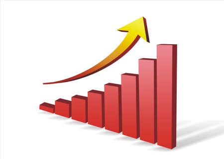 chart with arrow photo