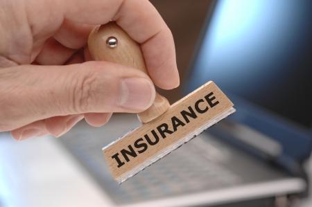 醫療保健: 標有保險橡皮圖章 版權商用圖片