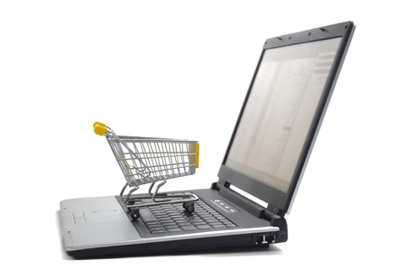 e commerce icon: market place internet Stock Photo