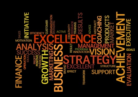 excellence: business word cloud