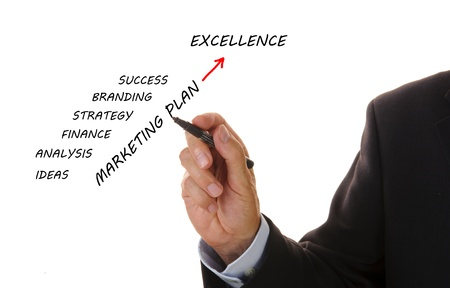 business plan to excellence Stock Photo - 12284951