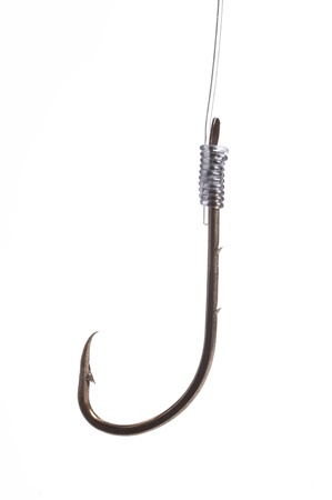 color image fish hook: fishing hook isolated