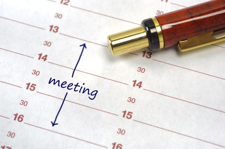meeting date in calendar Stock Photo - 12674637