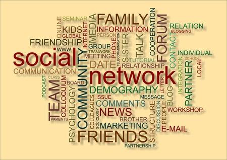 psicologia infantil: Nube de palabras para la red social