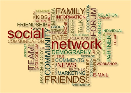 word cloud for social network photo