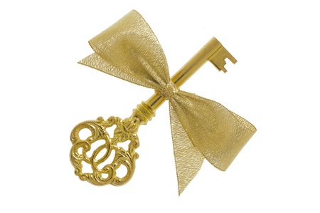 bow: golden key as symbol for success