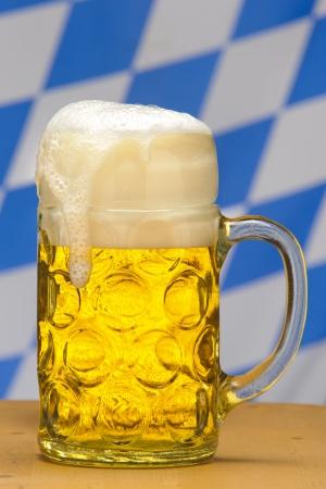 liter: big glass of 1 liter german bavarian beer  Stock Photo