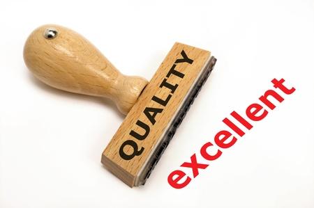 document management: stempel gemarkeerd met een uitstekende kwaliteit Stockfoto