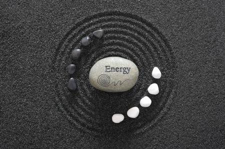 stone of energy in zen garden Stock Photo - 14189885