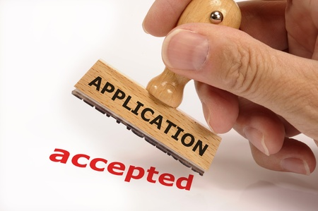 rubber stamp marked with application accepted Stock Photo - 14189800