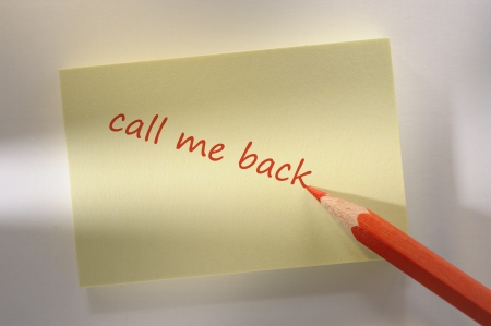 memo marked with call me back photo