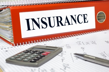 medical bills: file marked with insurance