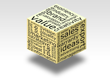 business word cube photo
