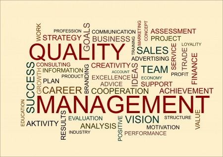 quality management: business word cloud