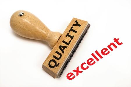 control de calidad: sello de goma marcado con la calidad y su excelente copia