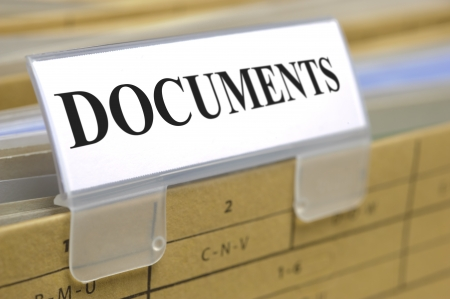 folder with documents: folder marked with documents Stock Photo