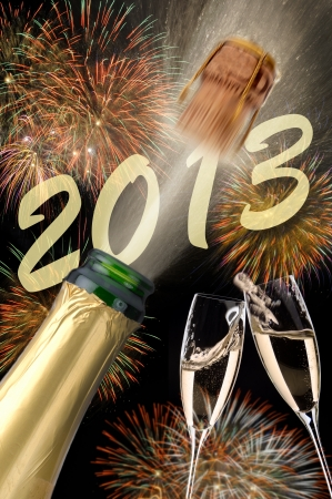 Christmas and new year 2013 Stock Photo - 15295856