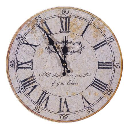 wijzerplaat: geïsoleerde grunge horloge