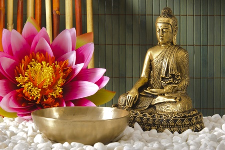 Buddha sitting in meditation photo
