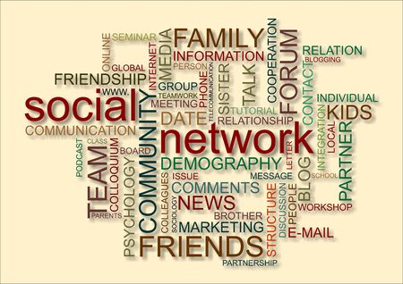 wordcloud for social network photo