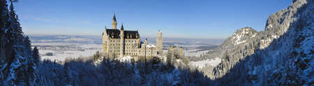 landmark castle Neuschwanstein in Bavaria, Germany