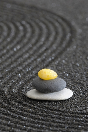 zen spa: zen garden in black sand