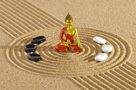 Zen garden with buddha figure Stock Photo - 17667803