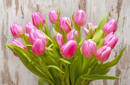 tulips in vase: bunch of easter tulips