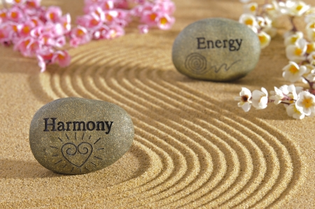 zen garden with harmony and energy photo