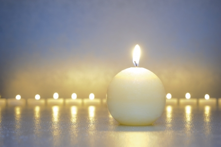 zen meditation with calm and candles Stock Photo - 17815643