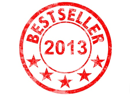 grunge rubber stamp marked with bestseller 2013 photo