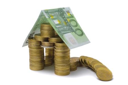 economic rent: euro house collapsed as symbol for euro crisis