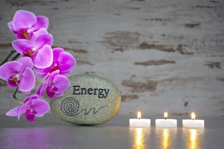 piedras zen: Jap�n zen jard�n con piedra de las luces de energ�a y vela